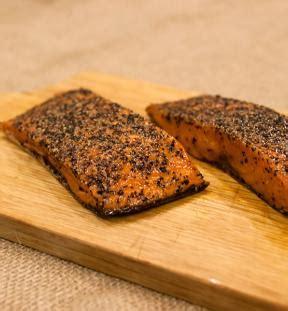 protein 4 oz salmon 4 oz baked peppered salmon portion acme smoked fish