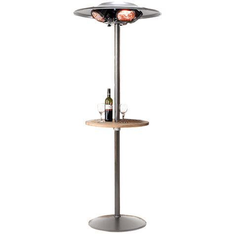 Heatmaster Patio Heater Heatmaster Select Patio Heater U5b R20 With Table Drinkstuff
