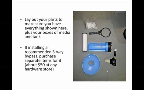 how to install whole house water filter whole house water filter how to install a whole house water filter youtube