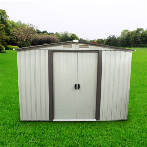 outdoor storage shed steel garden utility tool
