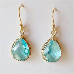 aquamarine chandelier earrings aquamarine earrings aqua and gold chandelier earrings
