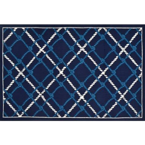 Lattice Rope Hook Indoor Outdoor Rug 5x8 5x8 Indoor Outdoor Rug
