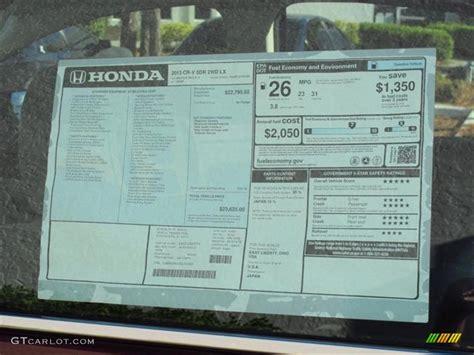Honda Window Sticker By Vin honda factory window sticker