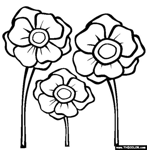 free coloring pages of anzac poppies