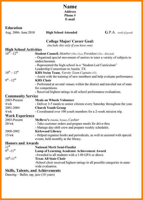 high school activities resume template 9 resume awards and achievements bid template