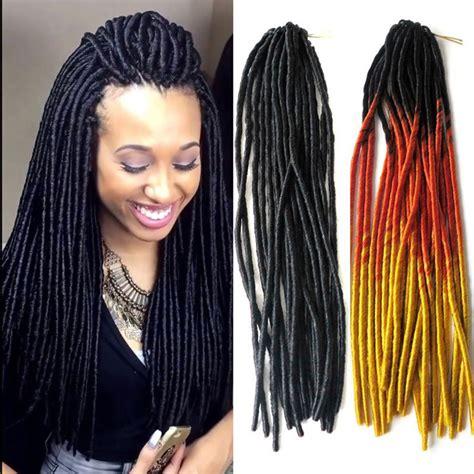 all dreadlock twist 20 quot soft dreadlocks twist hair crochet braid synthetic