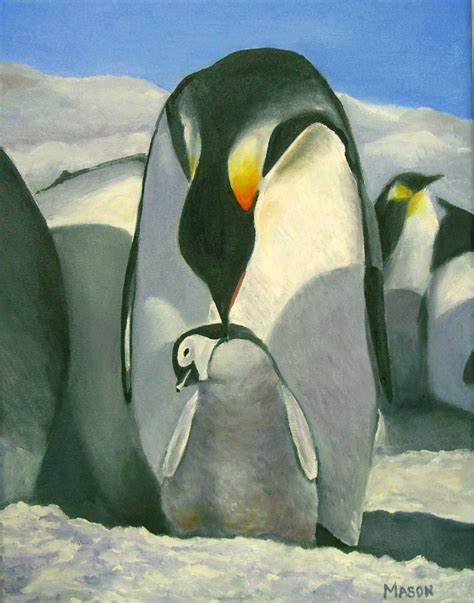 painting penguin 16x20 sold