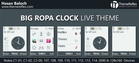 nokia 110 clock themes software big ropa clock live theme for nokia x2 00 x2 02 x2 05