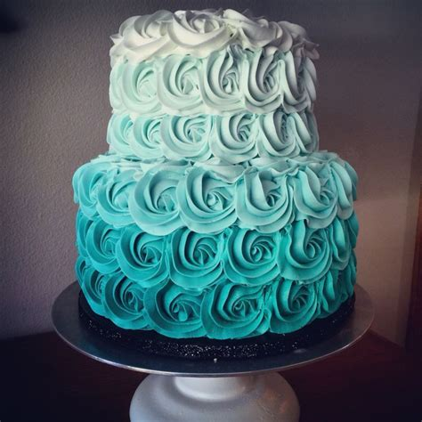 Best 25  Teal cake ideas on Pinterest   Teal wedding cakes