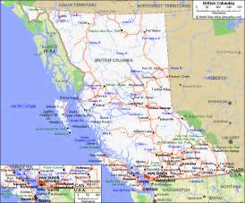 map bc canada map of roads of columbia maps of canada provinces