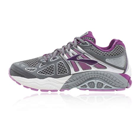 supportive athletic shoes ariel 14 womens grey purple support running shoes