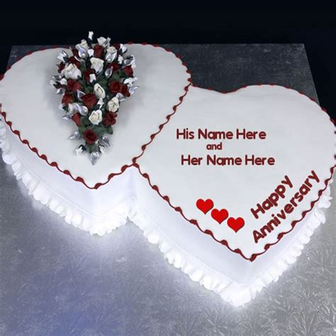 Wedding Anniversary Cake With Name by Happy Anniversary Cake With Name