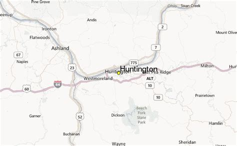 huntington west virginia map huntington weather station record historical weather for