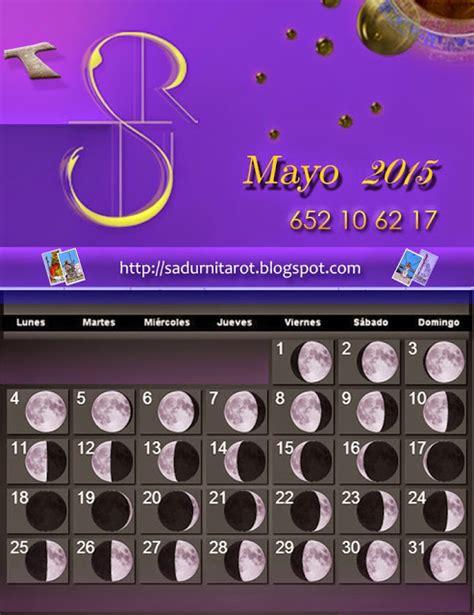 Calendario Lunar Mayo 2015 Sadurn 237 Tarot Calendario Lunar Mayo 2015