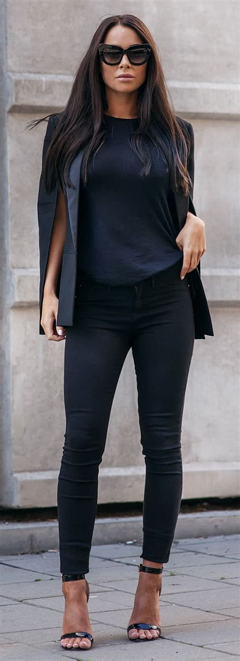 25 all black fall outfits that are anything but basic 25 innovative black dress pants women outfit playzoa com