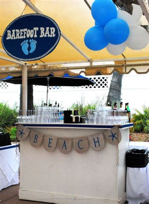 themed parties filling station a boy s beach bash first birthday party spaceships and