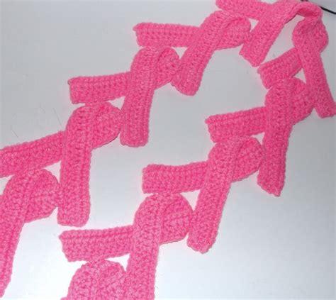 pattern for pink ribbon scarf handmade pink breast cancer ribbon crochet scarf crochet