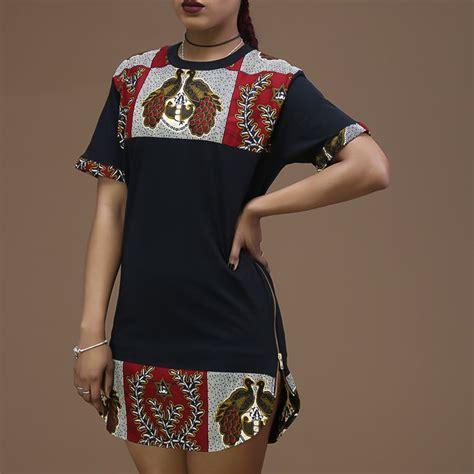 Longline Shirt Fregie Unisex unisex afrination ankara longline t shirt afrination by