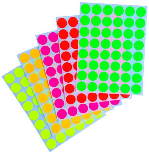 Sticker Small multicolored stickers color coding labels 17 mm 3 4 inch