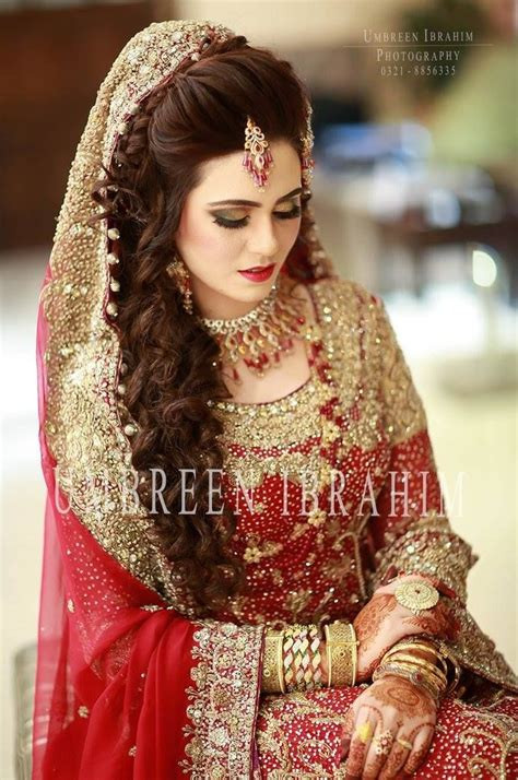 219 best Pakistani brides images on Pinterest   Indian bridal, Indian bridal wear and Wedding hair
