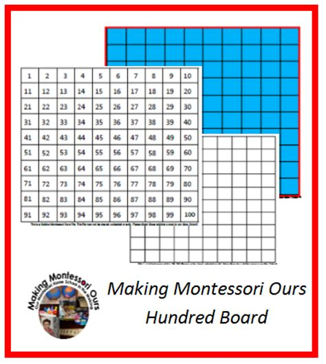 Printable Montessori Hundred Board | montessori hundreds board quot making montessori ours quot