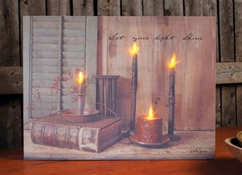 Lighted Canvas Pictures Christmas Tree Hill