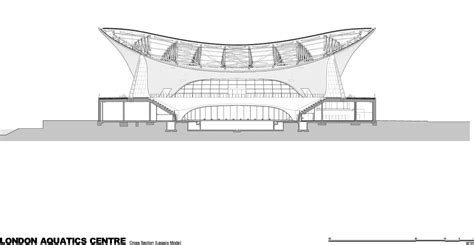 zaha hadid section aquatics centre is just completed for the london 2012