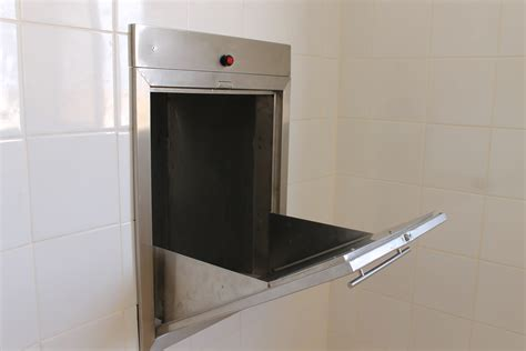 Full Wall Kitchen Cabinets by Garbage Chute System Bahrain Stainless Steel