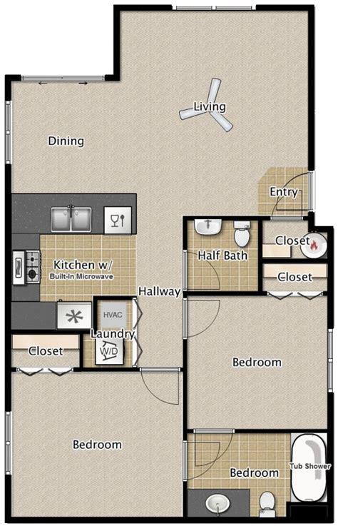 bedroom  bath apartment floor plans medford oregon