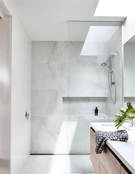 marble bathrooms ideas elsternwick house nice bathroom marble look tiles are