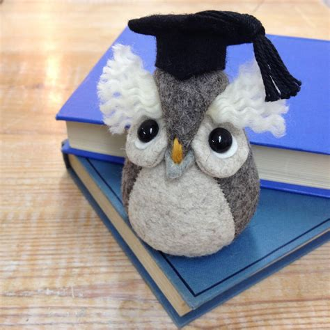 Handmade Owls - handmade graduation owl paperweight by mirjami design