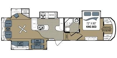 grand junction 5th wheel floor plans 2011 grand junction fifth wheel series m 364rl specs and