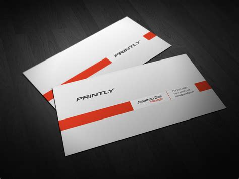 free photoshop psd card templates free printly business card psd template by kjarmo on