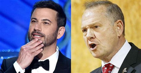 roy moore vs kavanaugh jimmy kimmel vs roy moore a twitter feud
