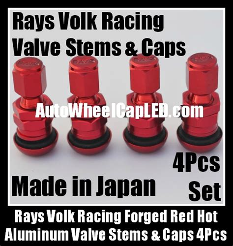 Tutup Pentil Rays Racing Tire Valve Cap rays volk racing forged aluminum tire valve stems caps japan wheels rims work japan 4pcs