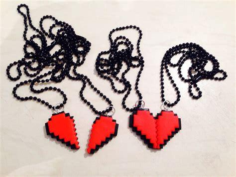 imagenes kawai novios collar doble corazon 8 bits amor geek friki kawaii zelda