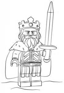 Ausmalbild: Lego König   Ausmalbilder kostenlos zum ausdrucken