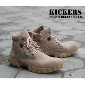 Sepatu Boot Camel Kulit Buk jual sepatu kickers boots safety porsh delta hua