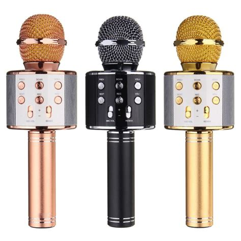 Speaker Mic Bluetooth Fleco Ws 1816 Speakar Mic Bluetooth Wster ws 858 wireless bluetooth karaoke handheld microphone usb