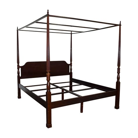 Wood Canopy Bed Frame King 75 Bombay Bombay Canopy King Cherry Wood Bed Frame Beds