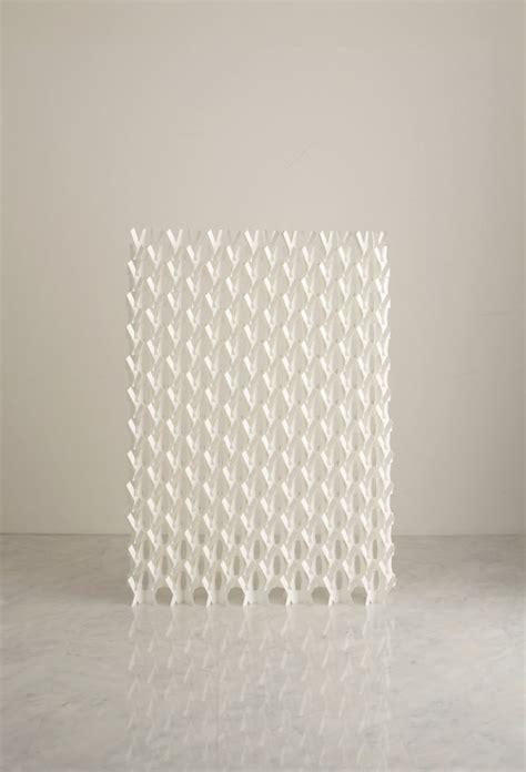 Paper Screen - a divider screen made of paper design milk
