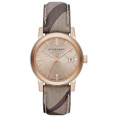 Burberry Bb010 Rosegold F bu9040 burberry the city smoked check gold tone 38mm the o