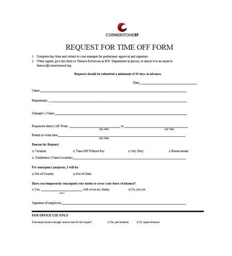 cinco de mayo employee time off request form
