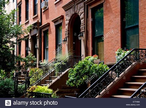 we buy houses brooklyn brooklyn new york elegant brick town houses with stoops and front stock photo