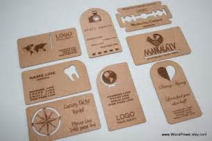 wooden business card unique design set of 10 custom