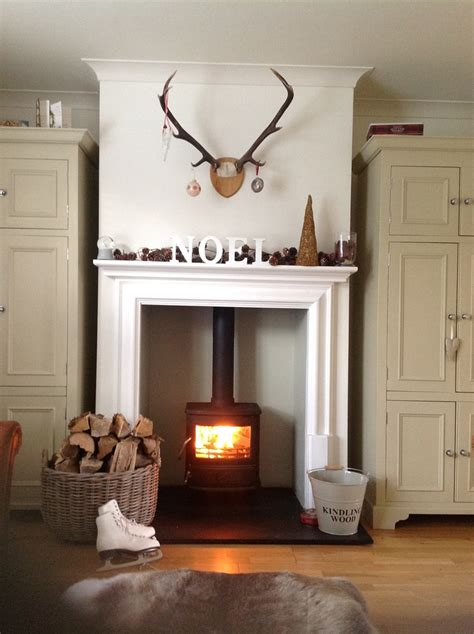 Log Burner Fireplace Designs by This Ismy Fireplace Wood Burner Antlers Heaven
