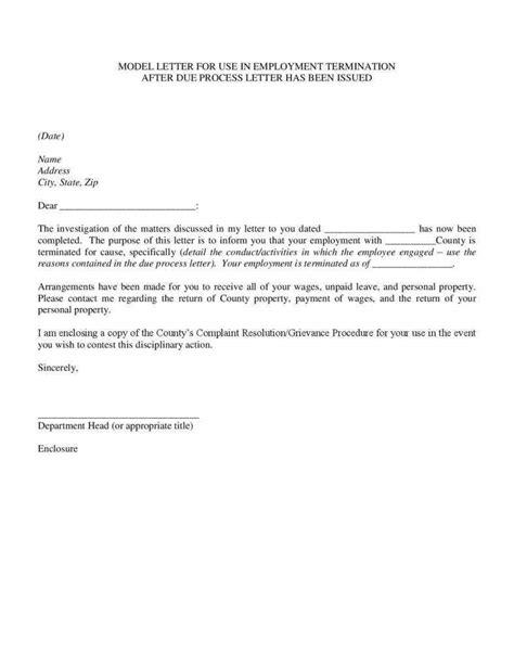 letter termination employment redundancy template