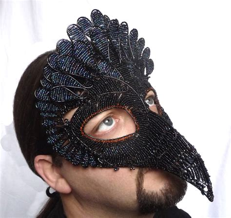 Mask Handmade - vulture masquerade mask mens handmade bird of prey