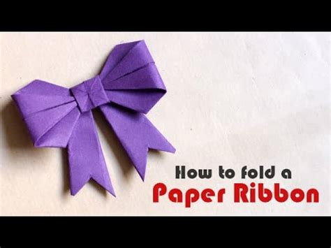 How To Fold Paper Ribbon - how to make a paper bow ribbon hd doovi