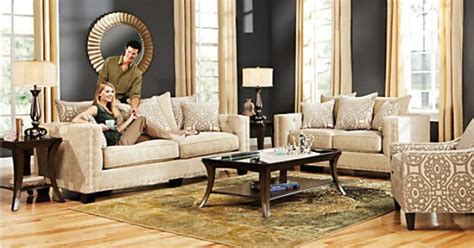 cindy crawford home sidney road taupe 7 pc living room sidney road taupe living room collection aunt rox